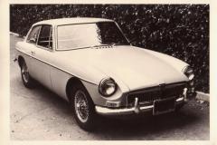 1967 MG MGB GT photographed around 1970