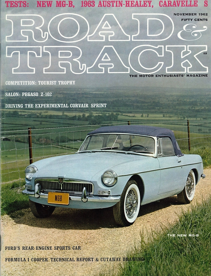 1963 Mgb On The Cover Of Road And Track Magazine  November