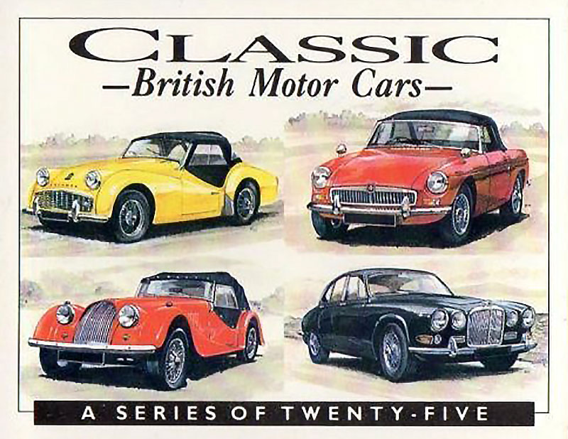 Classic British Motor Cars Card Set Mgb Gt