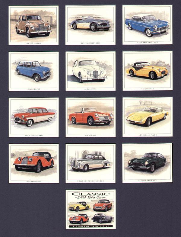 Classic British Motor Car Cards Mgb Gt