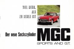 1967 MGC Brochure German page 1