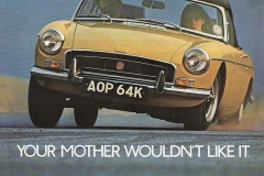 Your Mother Wouldn't Like It MG MGB Fantastic Ride