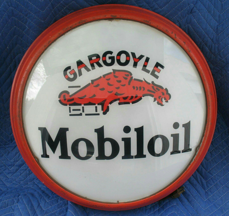 Gargoyle Mobiloil Gasoline Vintage Gas Pump Globe