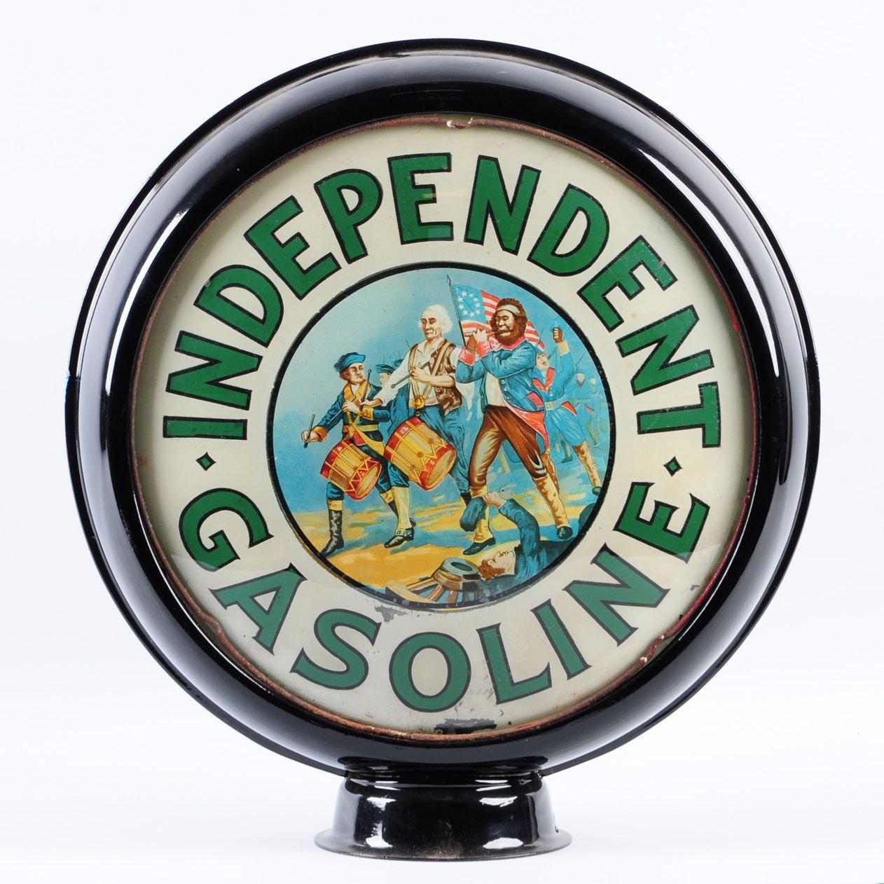 Independent Gasoline Vintage Gas Pump Globe