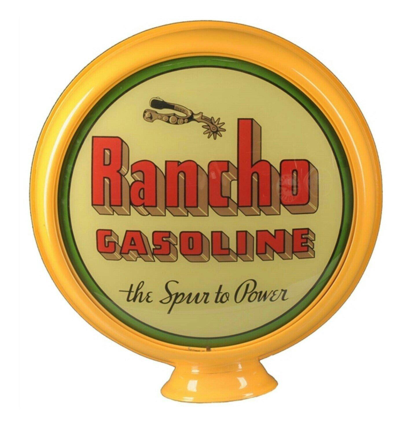 Rancho Gasoline Vintage Gas Pump Globe