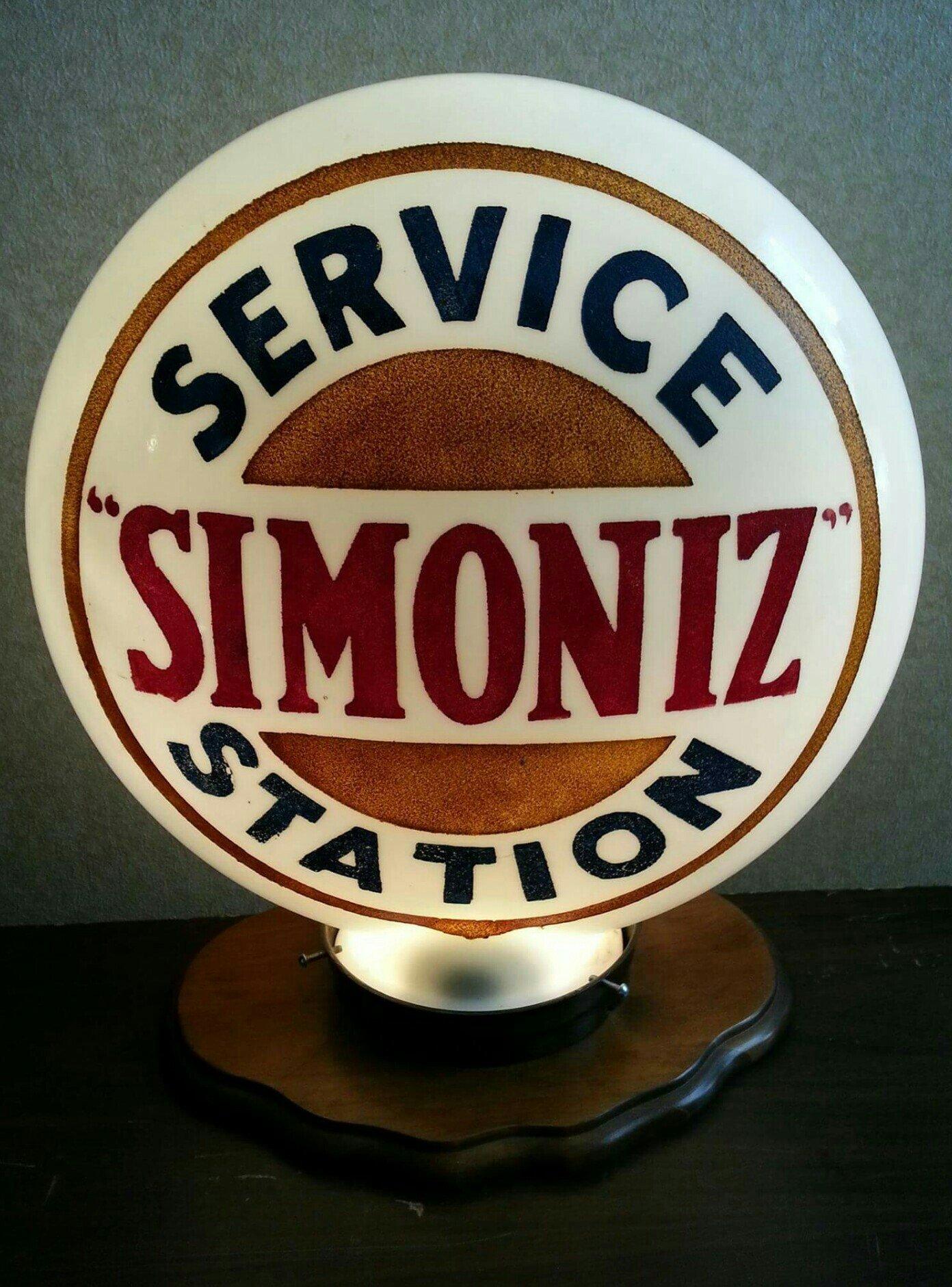 Simoniz Service Station Glass Globe