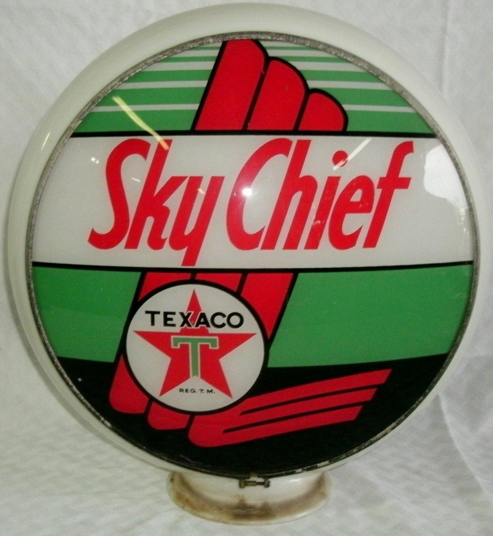 Texaco Sky Chief Gasoline Vintage Gas Pump Globe