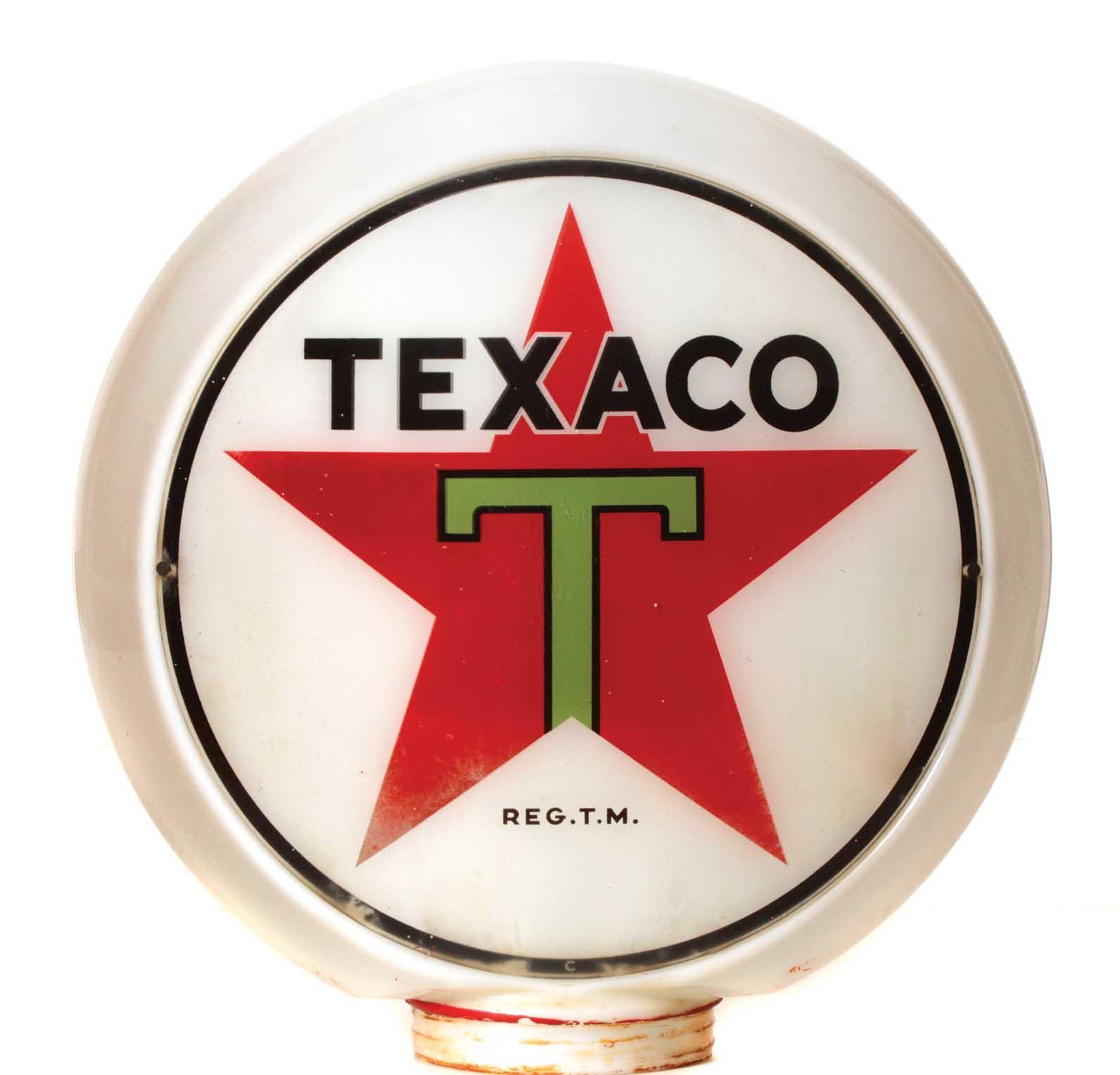 Texaco Vintage Gas Pump Globe