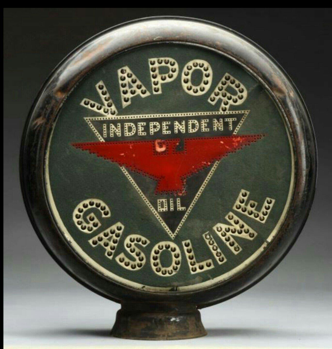 Vapor Gasoline Vintage Gas Pump Globe