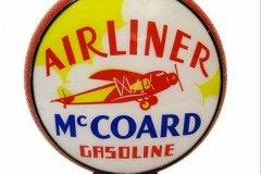 Airliner McCoard Gasoline Vintage Gas Pump Globe