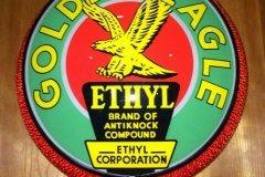 Golden Eagle Ethyl Gasoline Vintage Gas Pump Globe