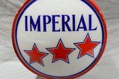 Imperial Gasoline Vintage Gas Pump Globe