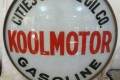 Koolmaster Gasoline Vintage Gas Pump Globe