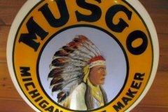 Musgo Gasoline Vintage Gas Pump Globe