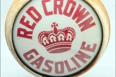 Red Crown Gasoline Vintage Gas Pump Globe
