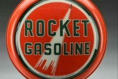 Rocket Gasoline Vintage Gas Pump Globe