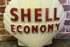 Shell Economy Vintage Gas Pump Globe