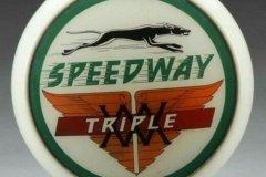 Speedway Triple Vintage Gas Pump Globe