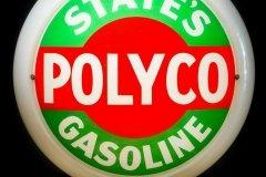 States Polyco Gasoline Vintage Gas Pump Globe