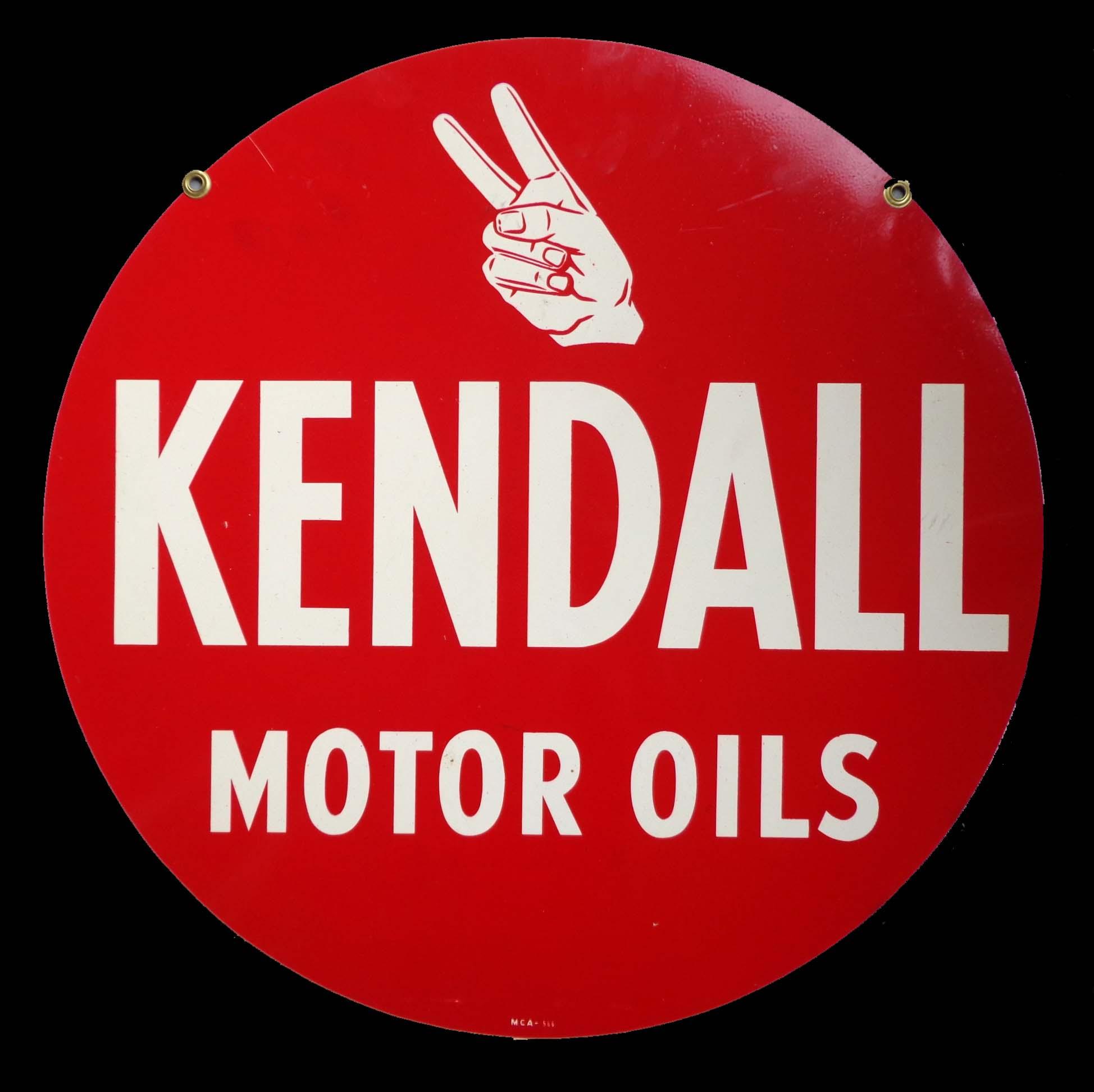 Kendall Motor Oils vintage sign