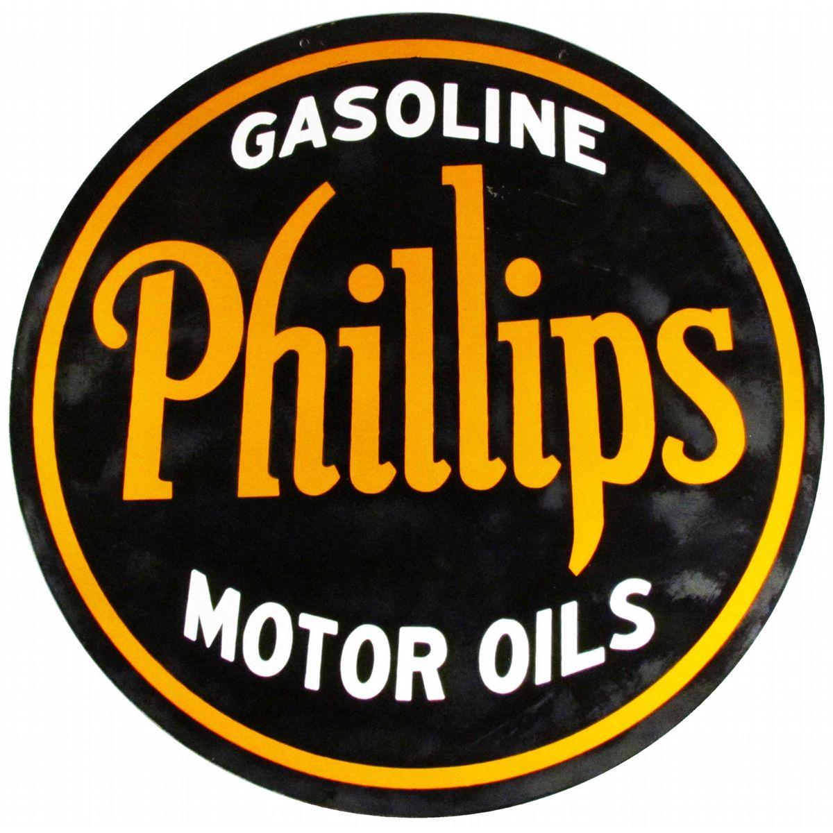 Phillips Gasoline Motor Oils vintage sign