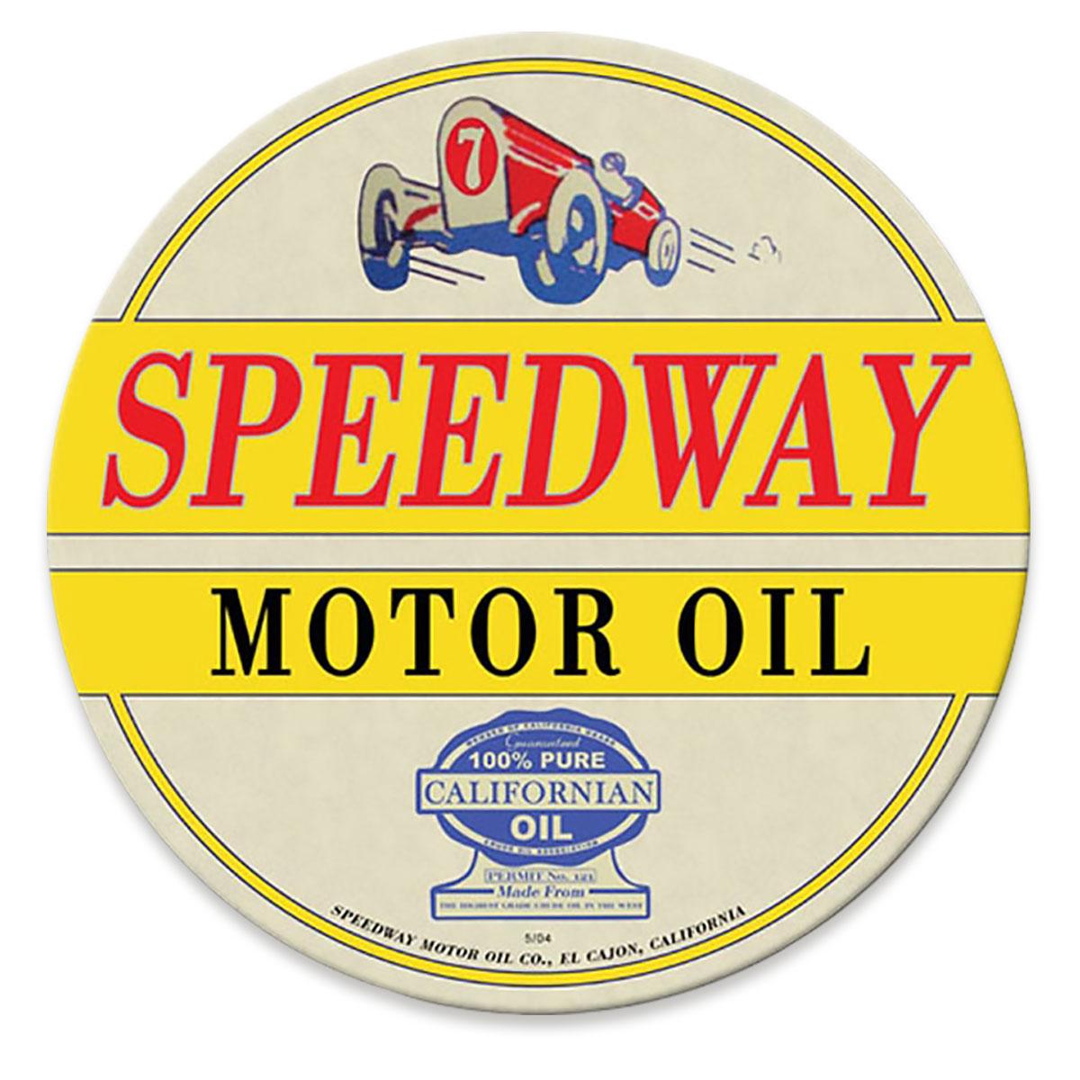 Speedway Motor Oil sign