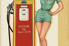 Betties Service Station pin up