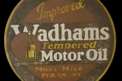 Improved Wadhams Tempered Motor Oil sign