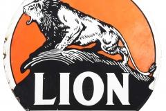 Lion Gasoline sign