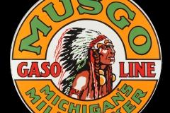 Musgo Gasoline vintage sign