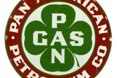 Pan American Petroleum Company vintage sign
