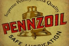 Pennzoil Safe Lubrication sign