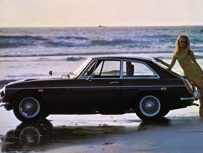 1969 MG MGC/GT USA publicity photo   1967 MGB GT