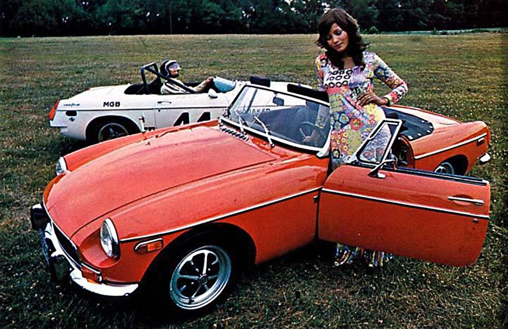 1971 MG MGB flower child with Group 44 racing MGB | 1967 MGB GT