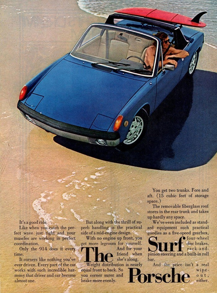 Porsche 914 Surfboard Ad 1967 Mgb Gt