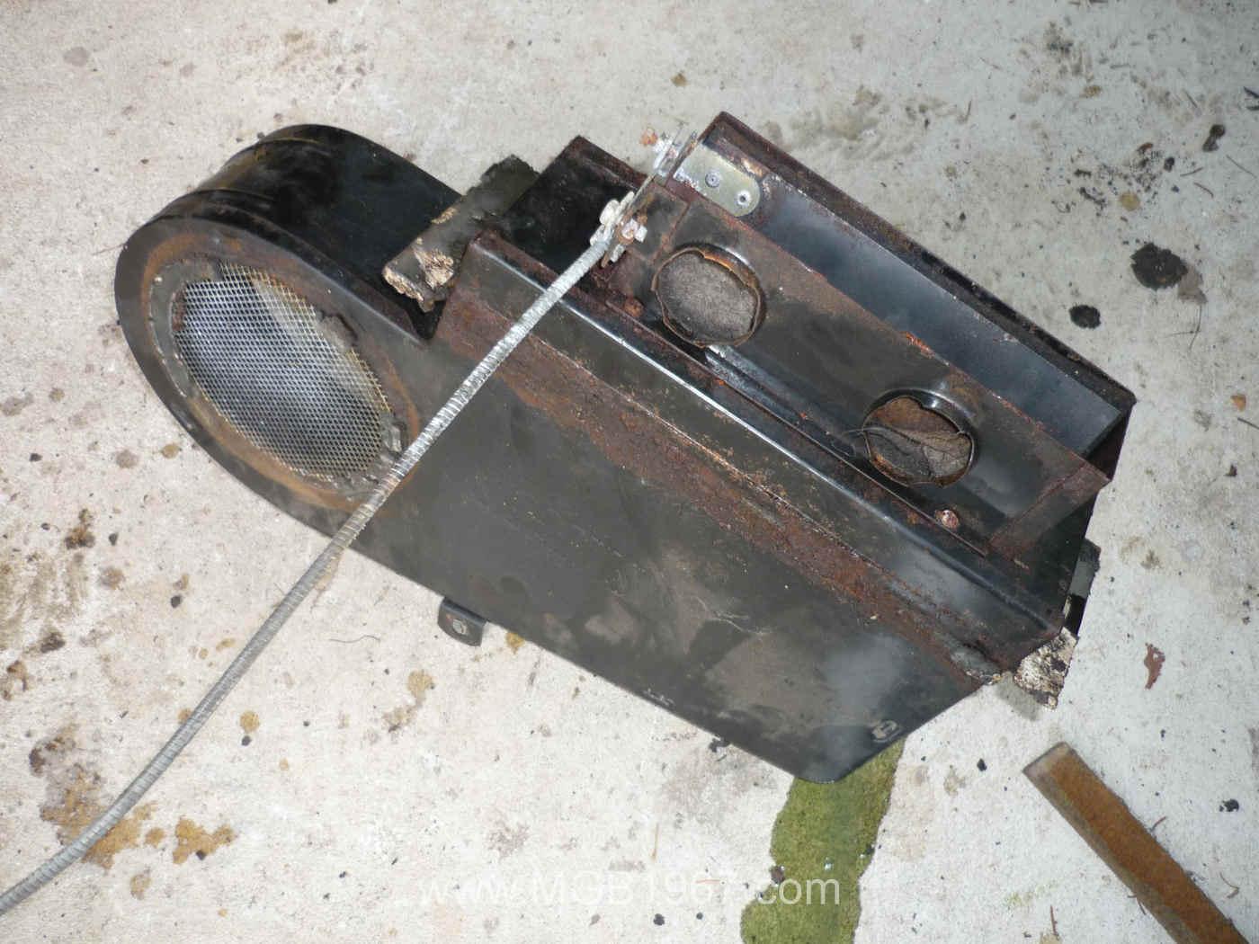 Rusty Mgb Gt Heater Box 1967 Mgb Gt