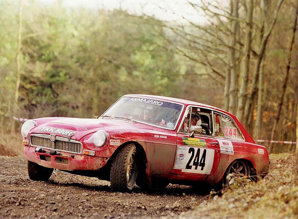 Racing MGC in rally | 1967 MGB GT